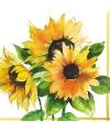Zonnebloemen servetten 20 stuks