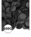 Zwarte confetti 600 gram