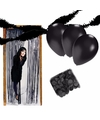 Zwarte kamer versiering pakket