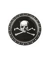 Zwarte piraten borden met doodshoofd