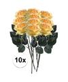 10x gele rozen simone kunstbloemen 45 cm