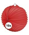 10x lampionnen rood 22 cm