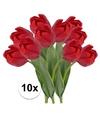 10x rode tulp kunstbloemen 48 cm