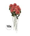 10x roze kunst roos simone 45 cm