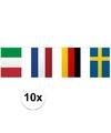 10x vlaggenlijn europa 10 meter