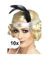 10x zilveren jaren 20 hoofdbanden