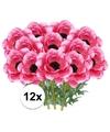 12x cerise anemoon kunstbloemen 47 cm