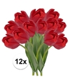 12x rode tulp kunstbloemen 48 cm