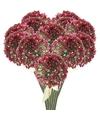 12x roze paarse sierui kunstbloemen 70 cm
