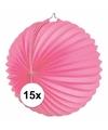 15x lampionnen roze 22 cm