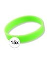 15x siliconen armbandjes neon groen