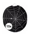 15x spinnenweb lampionnnen 22 cm