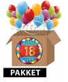 18 jarige feestversiering pakket
