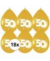 18x gouden ballonnen 50 jaar