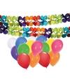 2 verjaardag slingers met 16 ballonnen