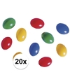 20x gekleurde plastic eieren
