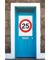 25 jaar verkeersbord deurposter A1