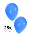 Ballonnen in het blauw 25 stuks