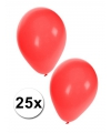 Ballonnen rood zakje van 25 stuks