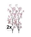 2x appelbloesem roze kunstbloemen 104 cm