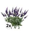 2x lavendel kunstbloemen tak 45 cm