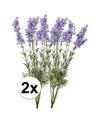 2x licht paarse lavendel kunstbloemen 40 cm