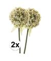 2x witte sierui kunstbloemen 70 cm