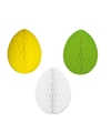 3 decoratie paaseieren pakket paaskleuren 10 cm