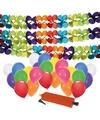 3 feestslingers met 24x ballonnen en ballonpomp