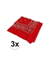 3 rode boeren zakdoeken