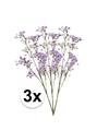 3 x paarse kroonkruid kunstbloemen tak 68 cm