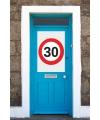 30 jaar verkeersbord deurposter A1