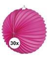 30x lampionnen fuchsia roze 22 cm