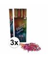 3x confetti kanon kleuren 80 cm