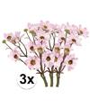 3x licht roze margriet kunstbloemen tak 44 cm