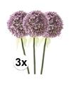 3x lila sierui kunstbloemen 70 cm
