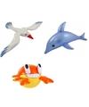 3x opblaasbare maritiem decoratie zeedieren type 1