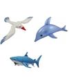 3x opblaasbare maritiem decoratie zeedieren type 4
