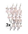3x roze appelbloesem kunstbloemen tak 84 cm
