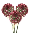 3x roze paarse sierui kunstbloemen 70 cm