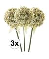 3x witte sierui kunstbloemen 70 cm