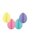 4 decoratie paaseieren pakket pastelkleuren 10 cm
