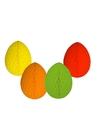4 decoratie paaseieren pakket vrolijke kleuren 10 cm