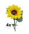 4 kunst zonnebloemen 81 cm