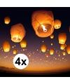 4 x witte wensballon xl 50 x 100 cm