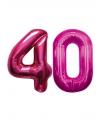 Roze opblaasbare 40 folie ballonnen