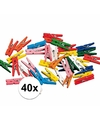 40x miniknijpertjes gekleurd