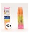 40x plastic gekleurde shotglazen