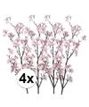 4x appelbloesem roze kunstbloemen 104 cm