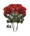 4x rode rozen simone kunstbloemen 45 cm